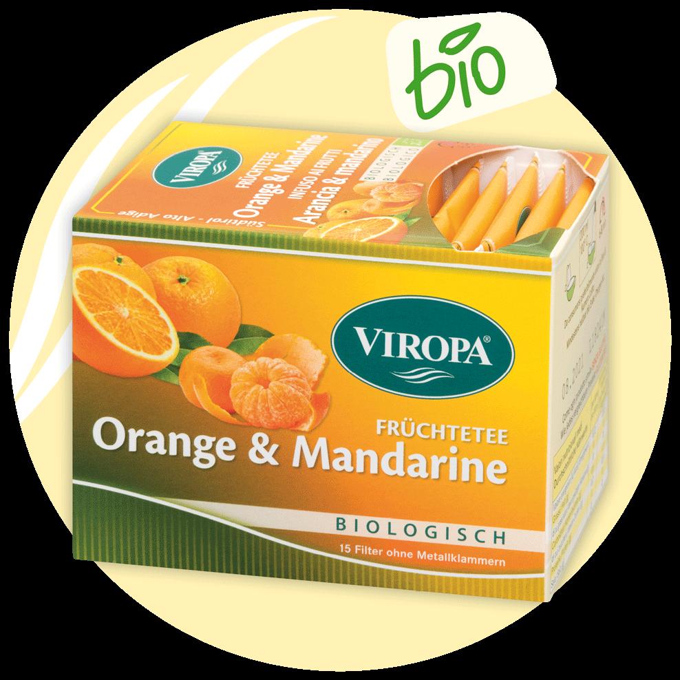 Viropa Orange und Mandarine Tee