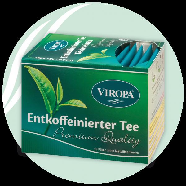 entkoffeinierter tee viropa